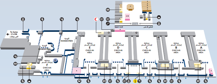 Схема аэропорта в Дубае,