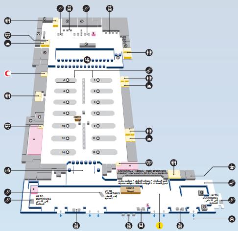 Аэропорт в Дубае, схема Т3,